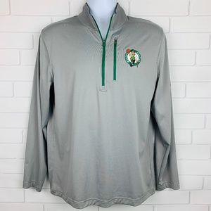 Majestic Boston Celtics 1/4 Zip Jacket